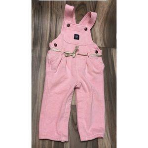 Oshkosh pink overall girl baby sweatshirt